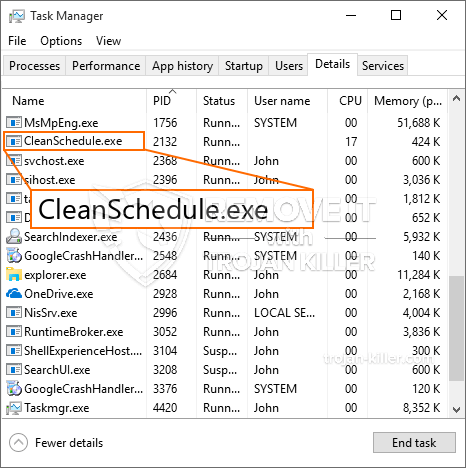 remove CleanSchedule.exe virus
