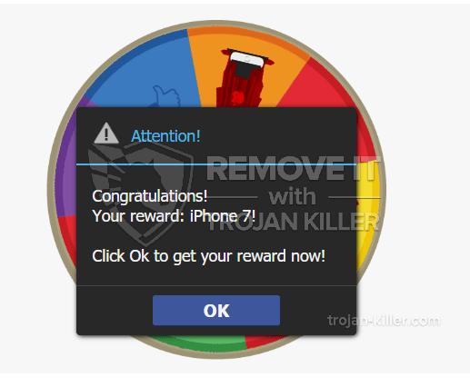 remove Congratulations! Your reward: iPhone 7! virus