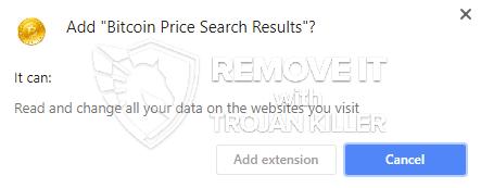 remove Bitcoin Price Search Results virus