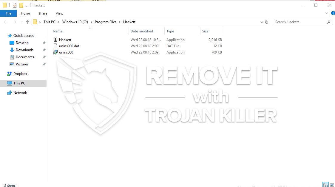 remove Hackett.exe virus