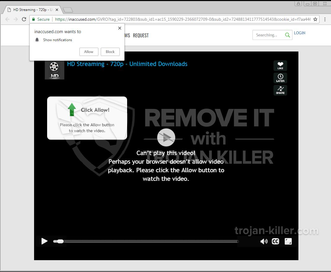 remove inaccused.com virus