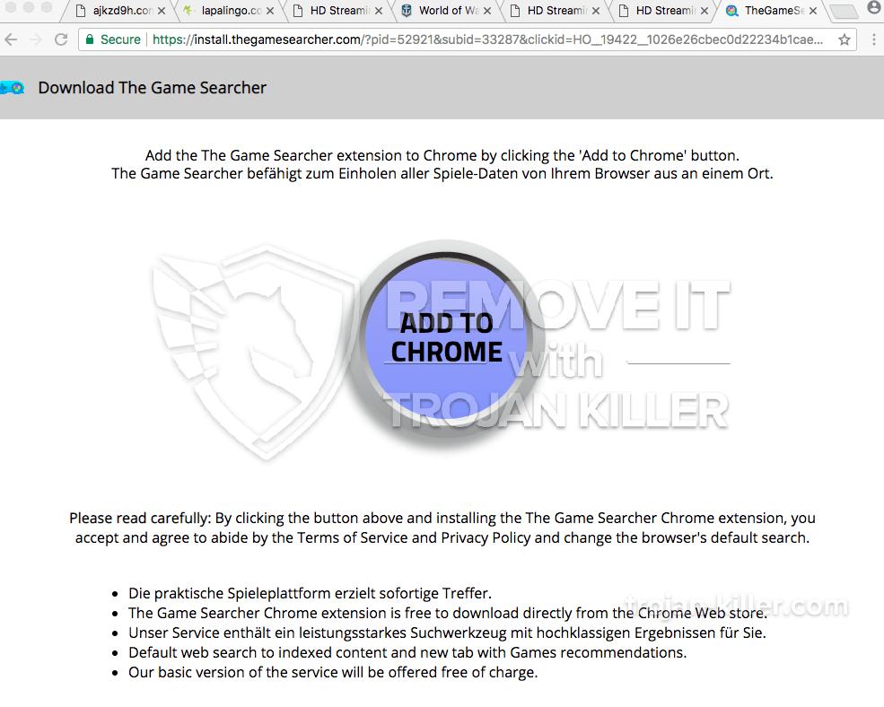 remove Install.thegamesearcher.com virus