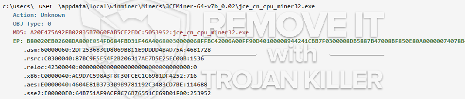 remove jce_cn_cpu_miner32.exe virus