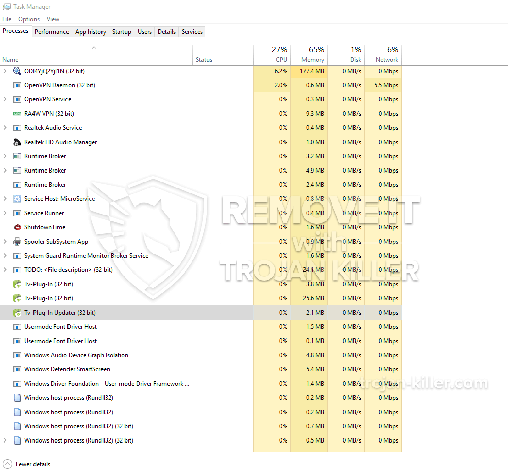 remove Tv-Plug-In Updater (32 bit) virus