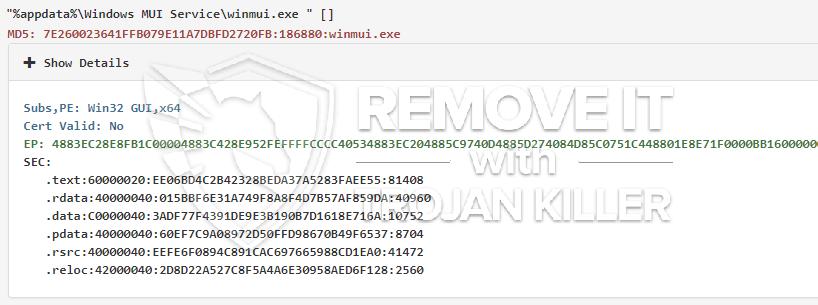 remove Winmui.exe virus
