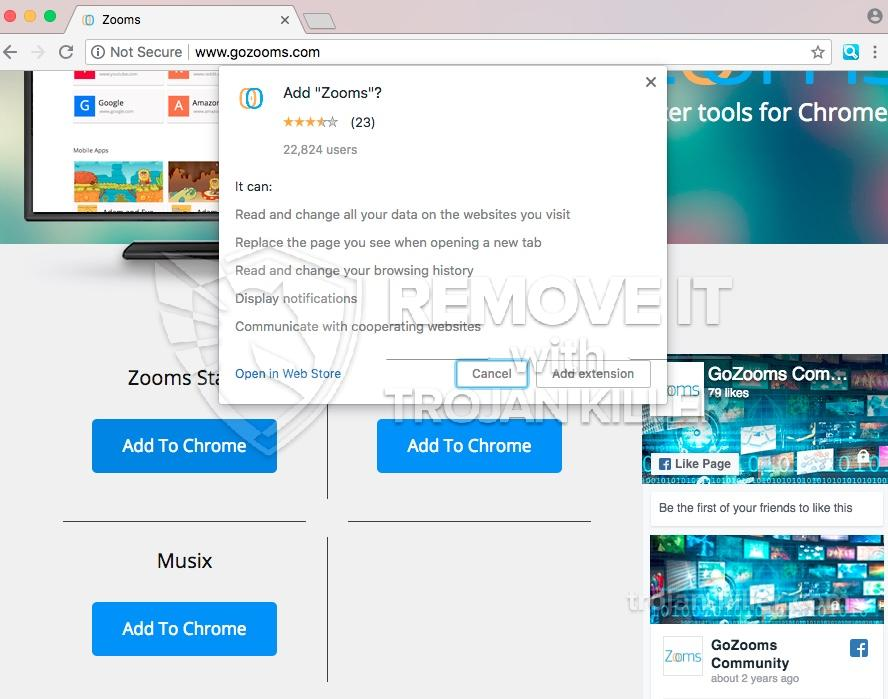 remove Gozooms.com virus
