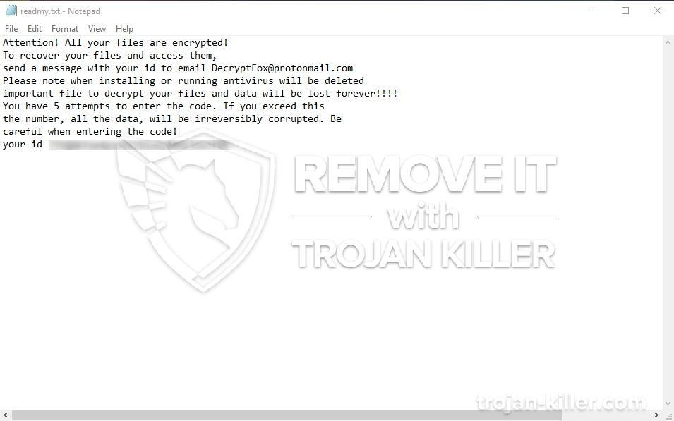 remove DecryptFox virus