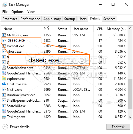 remove Dssec.exe virus