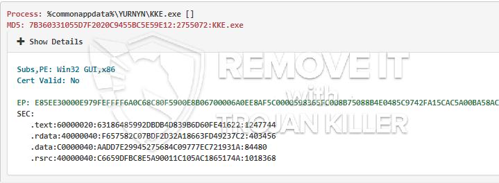 remove KKE.exe virus