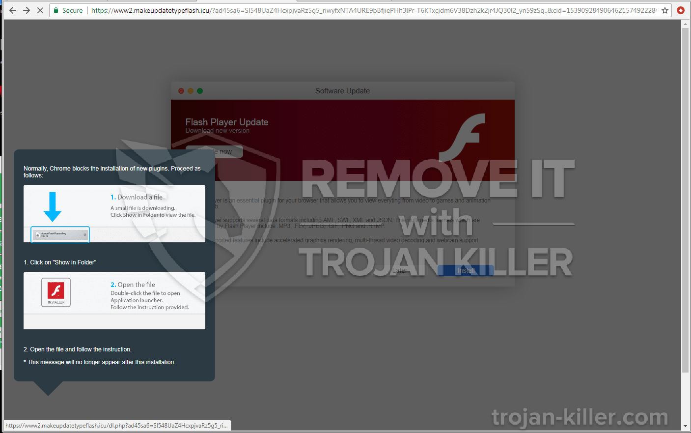 remove Makeupdatetypeflash.icu virus