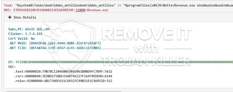 remove Revenue.exe virus