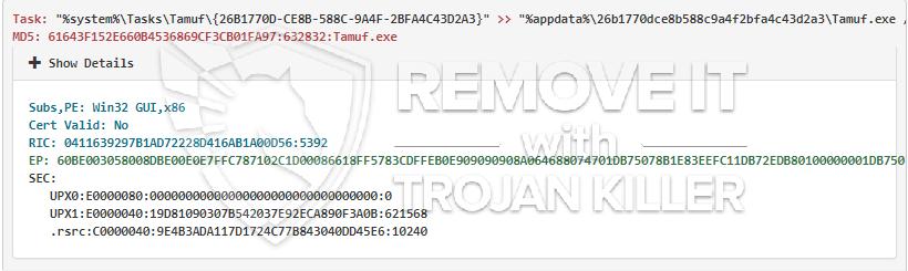 remove Tamuf.exe virus