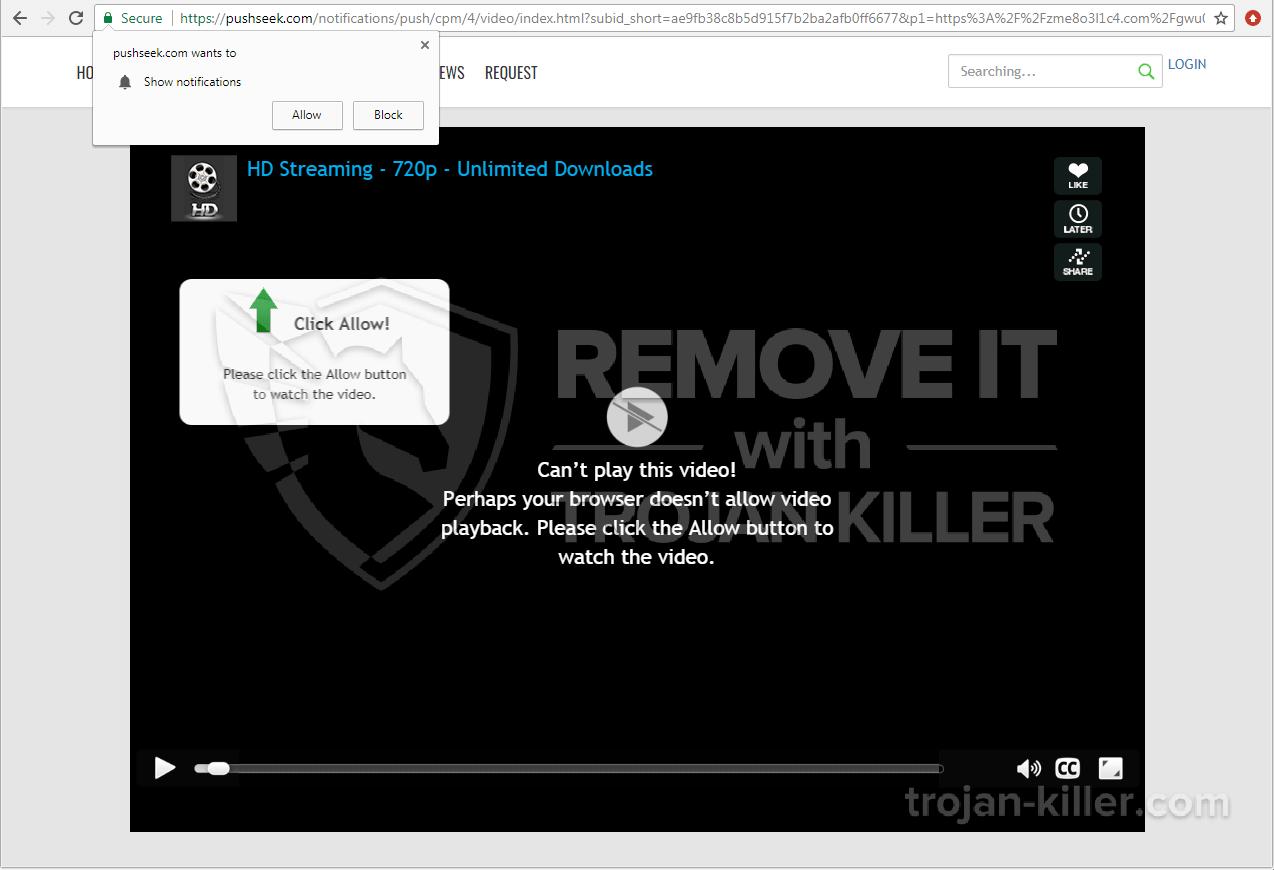 remove Pushseek.com virus