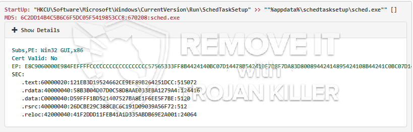 remove Sched.exe virus
