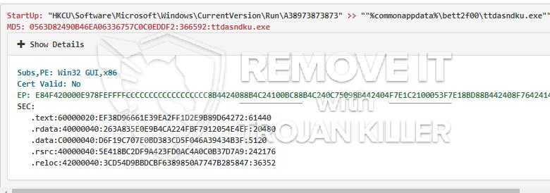 remove Ttdasndku.exe virus
