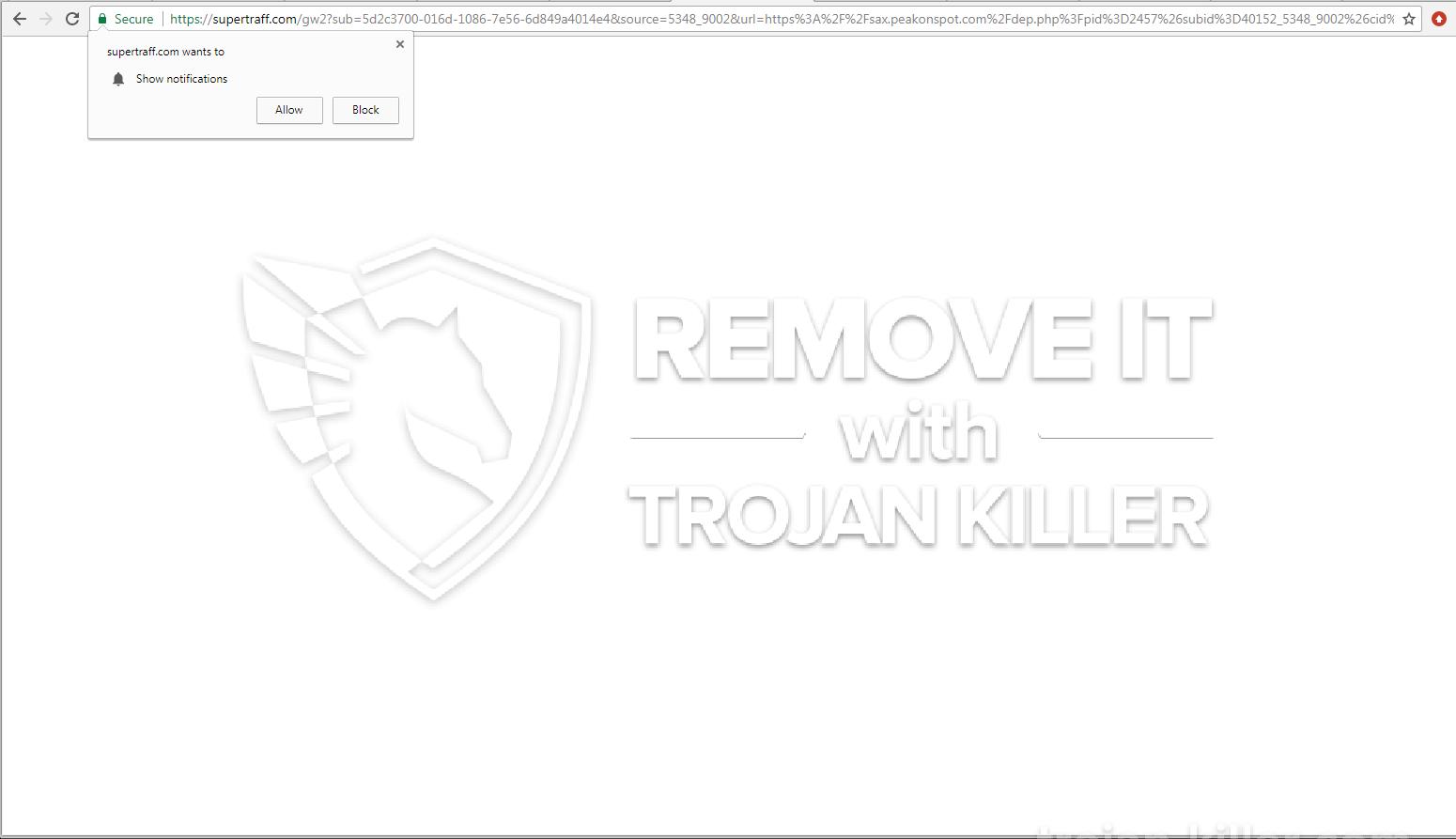 remove Supertraff.com virus