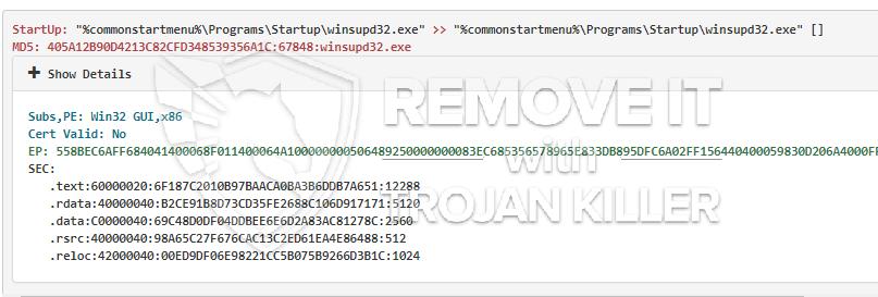 remove Winsupd32.exe virus