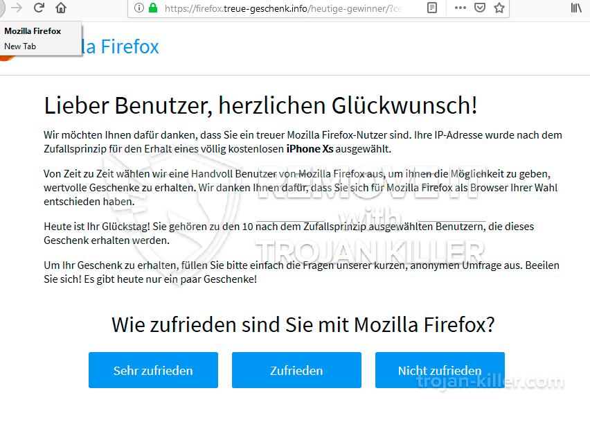 remove Firefox.treue-geschenk.info virus