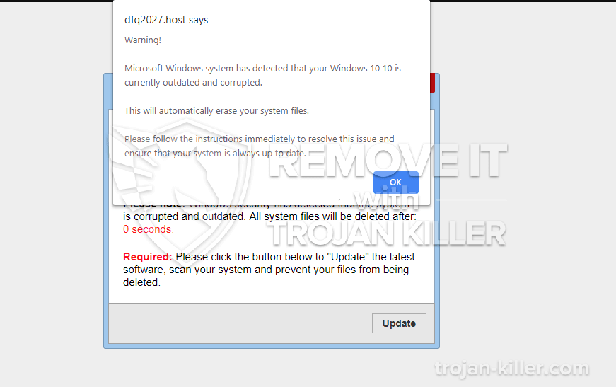 remove Microsoft Windows system has detected virus