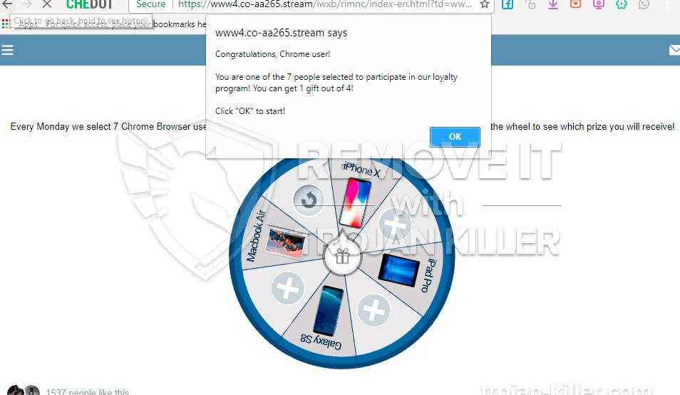 remove Co-aa265.stream virus