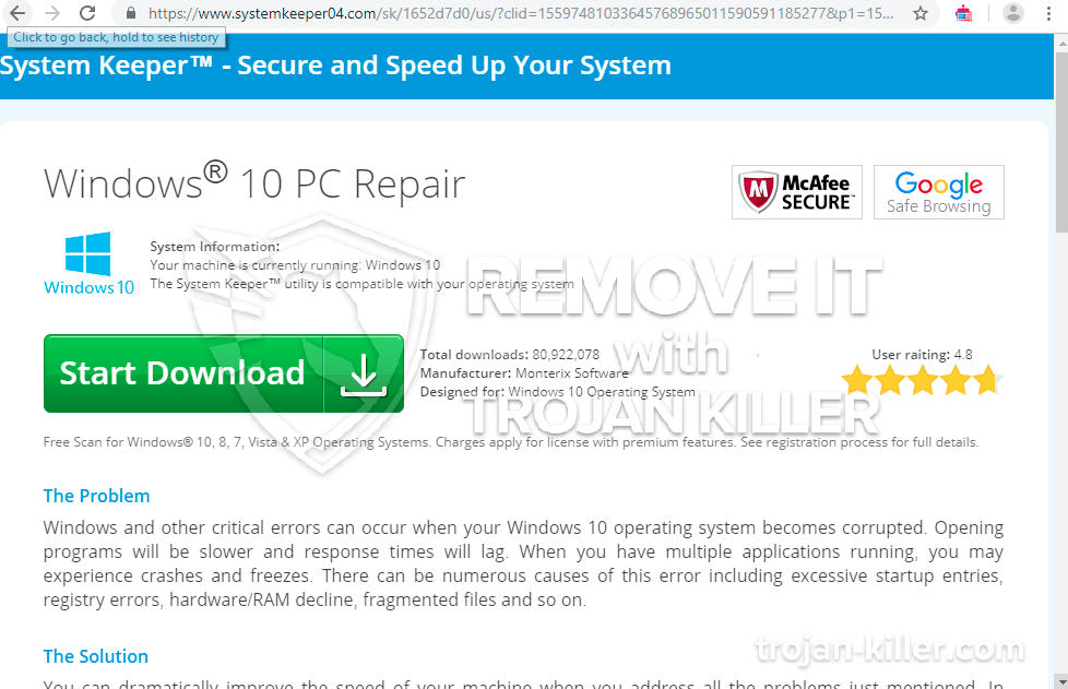 remove Systemkeeper04.com virus