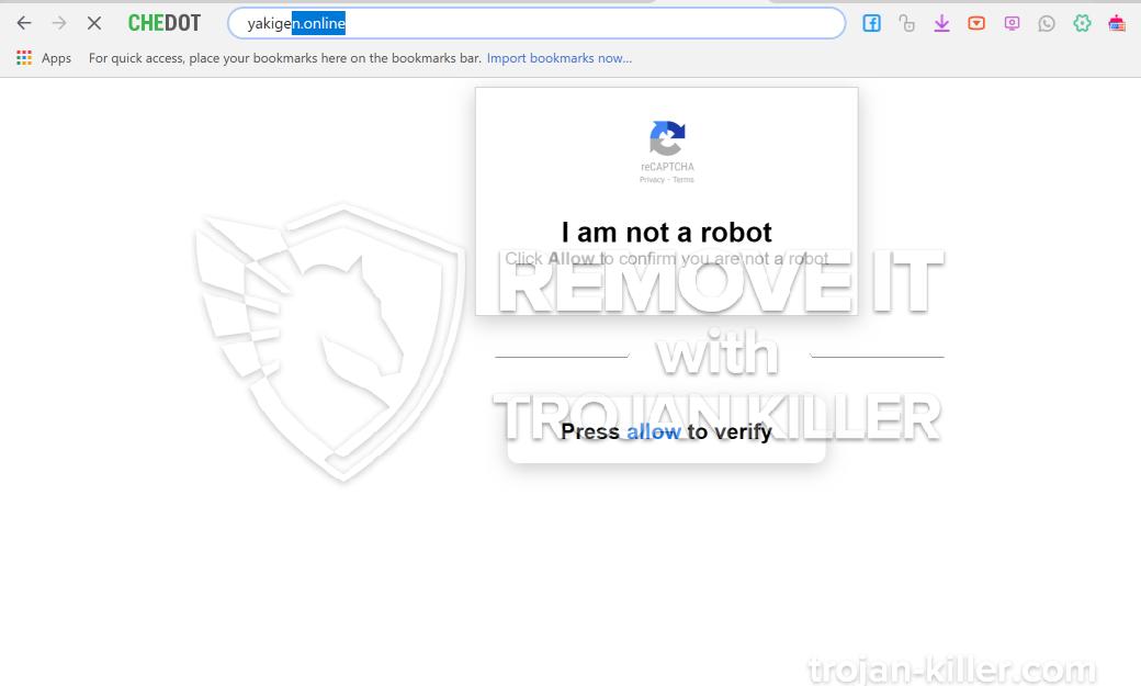 remove Yakigen.online virus