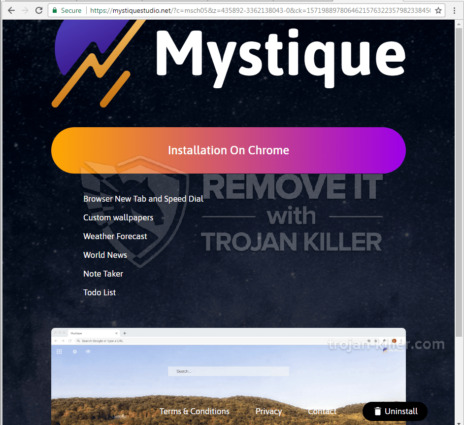remove Mystiquestudio.net virus