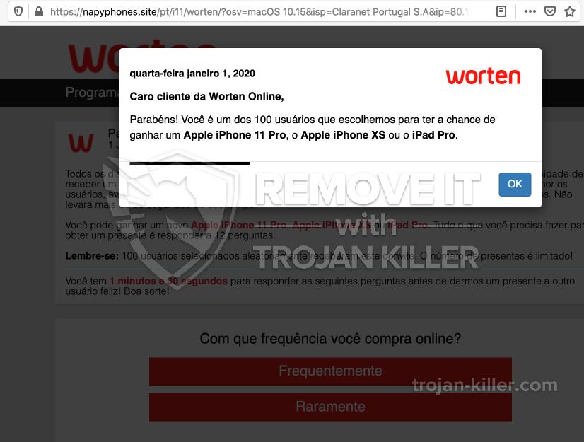 remove Napyphones.site virus