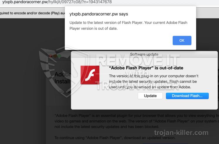 remove Pandoracorner.pw virus