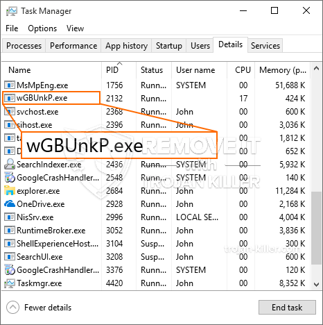 What is WGBUnkP.exe?