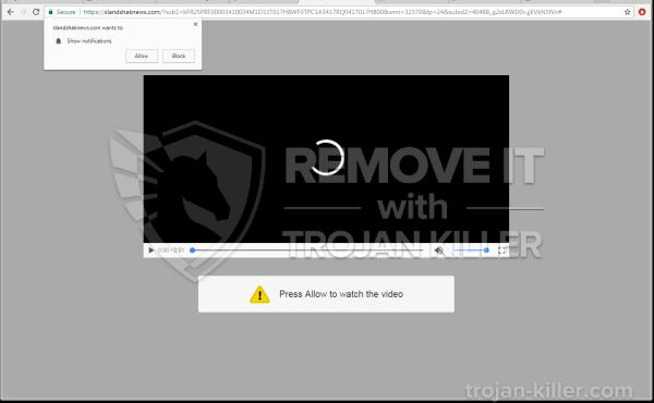 Slandshaknews.com virus