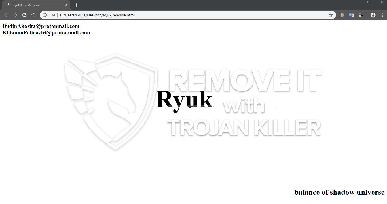 Ryuk virus