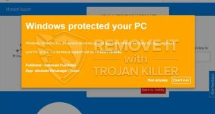 """""""Windows protected your PC"""" pop-up fraud (elimination guide)."""