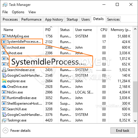 What is SystemldleProcess.exe?