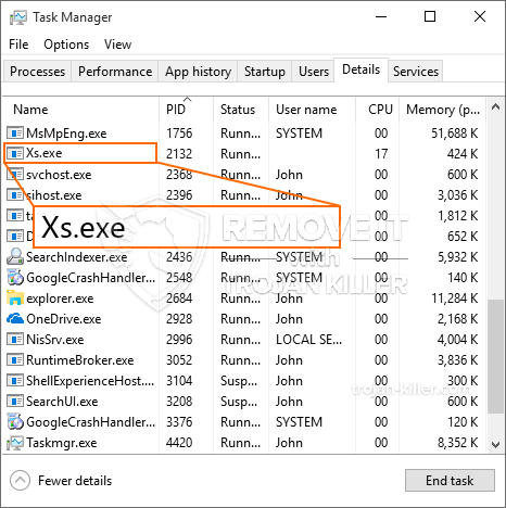 What is Xs.exe?