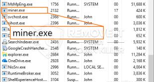 Remove Miner.exe Miner Trojan