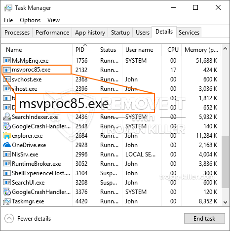 What is MSvProc85.exe?