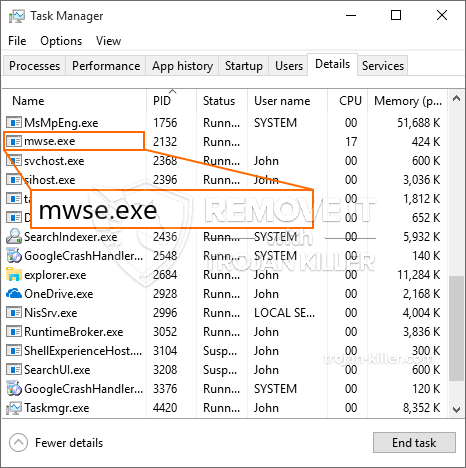 What is Mwse.exe?
