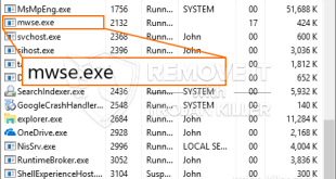 Uninstall Mwse.exe program from windows PC