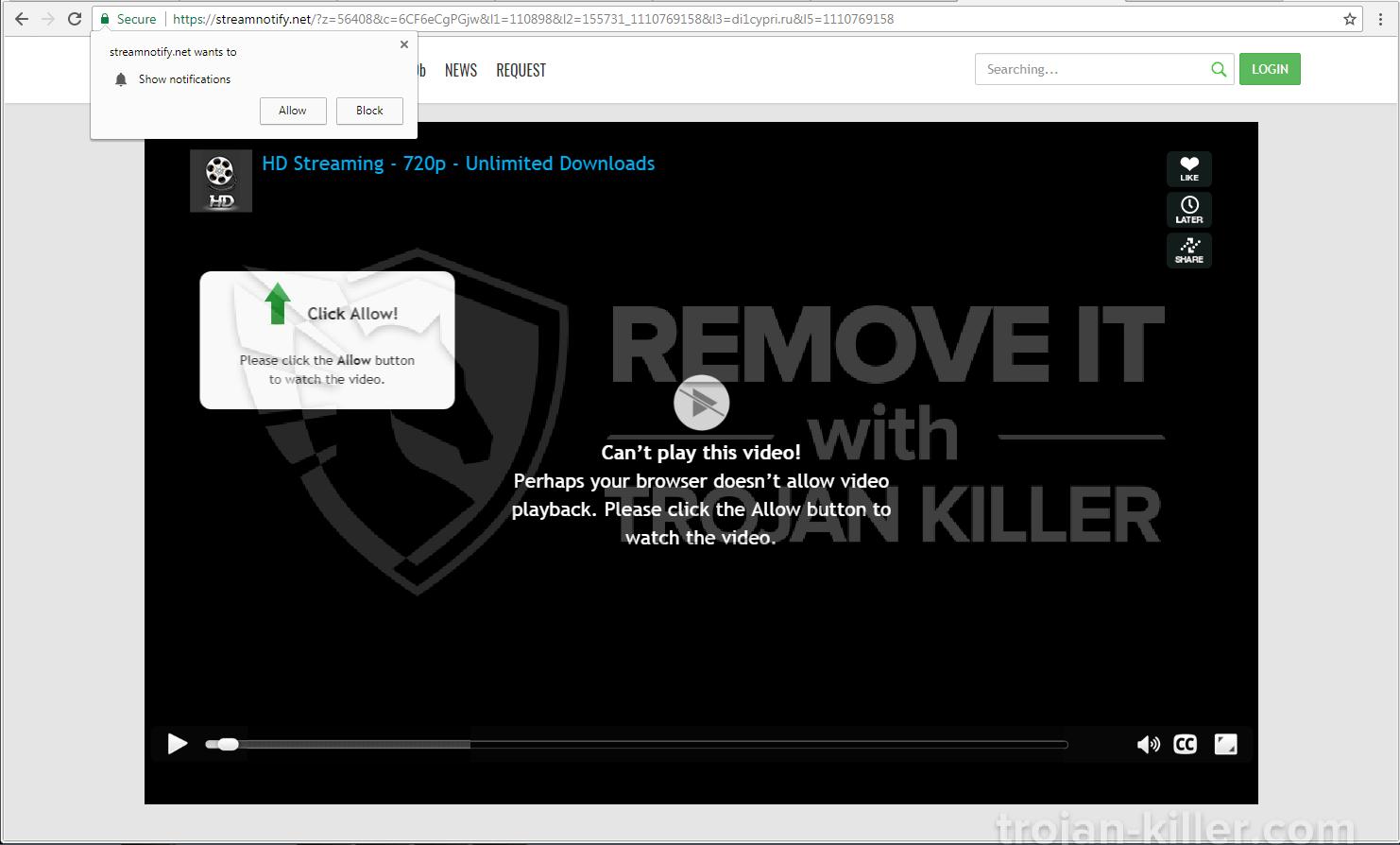 Streamnotify.net virus