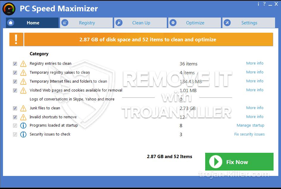 remove PC Speed Maximizer