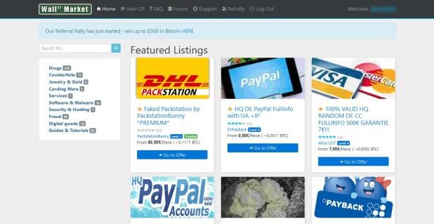 Wall Street Market Homepage