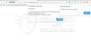 How to remove Matches4you.info dirty notifies?