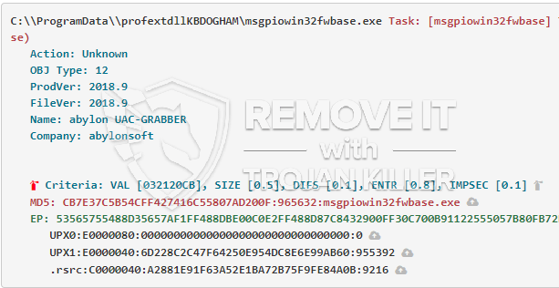 What is Msgpiowin32fwbase.exe?