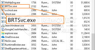 Virus BRTSvc.exe Trojan coming back