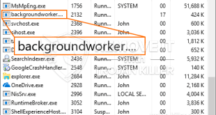 Afinstaller Backgroundworker.exe CPU Miner Trojan fra Windows 10