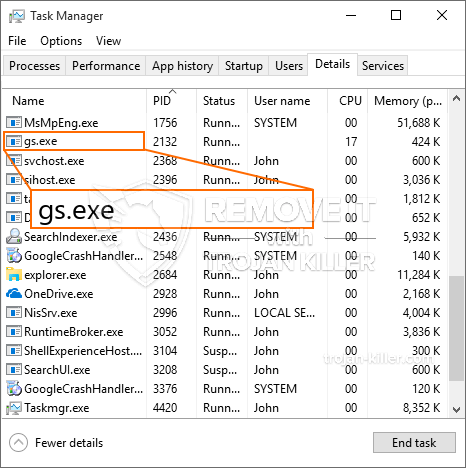 What is Gs.exe?