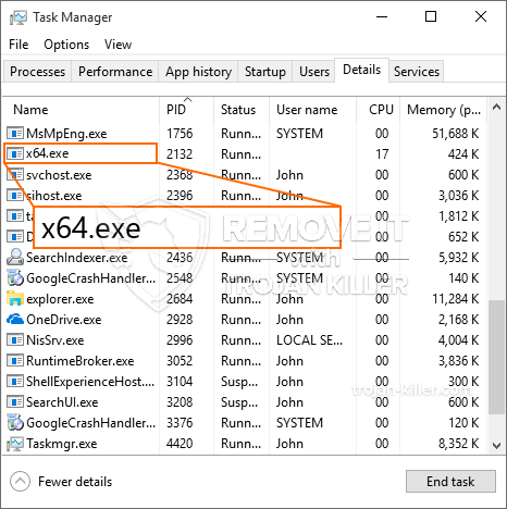 What is X64.exe?