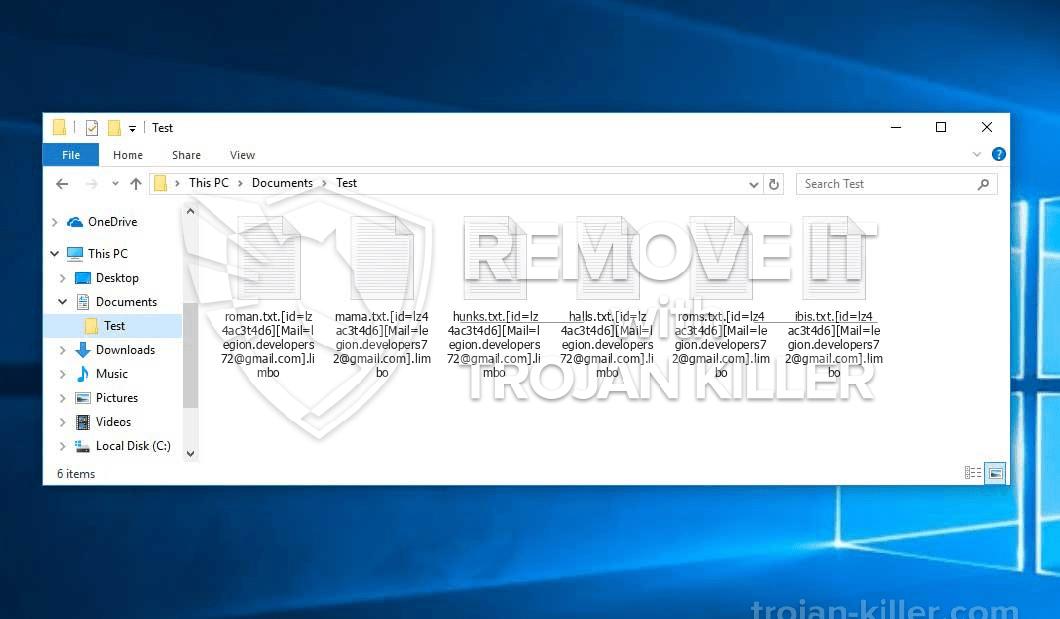 .virus de ransomware LIMBO