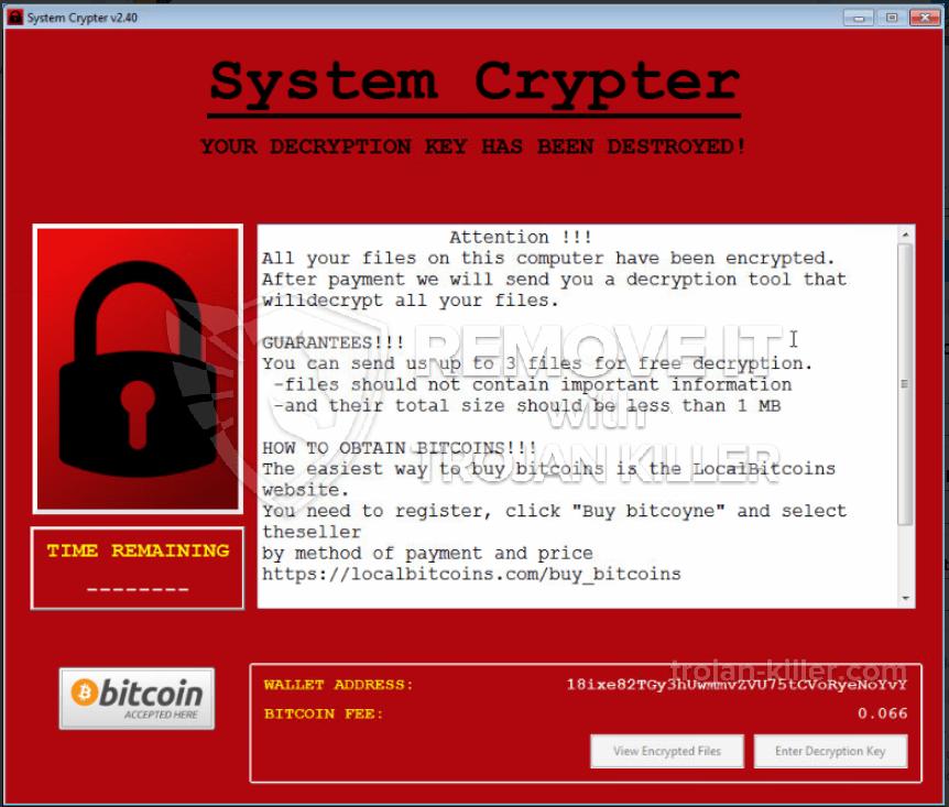 SystemCrypter ransomware virus
